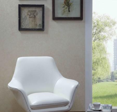 Chaise d'appoint contemporaine blanche A-832 (086296)