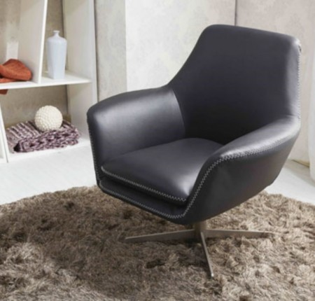 Chaise d'appoint contemporaine charcoal A-832 (08356)