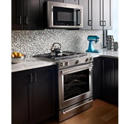 Cuisinière au gaz KitchenAid® Bi-énergie 5 brûleur et  094378
